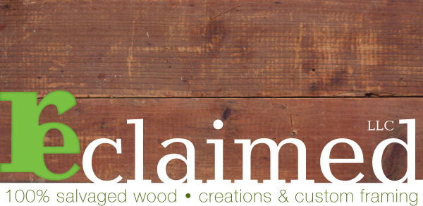 New logo for reclaimed LLC. Designed by Brad Reese.