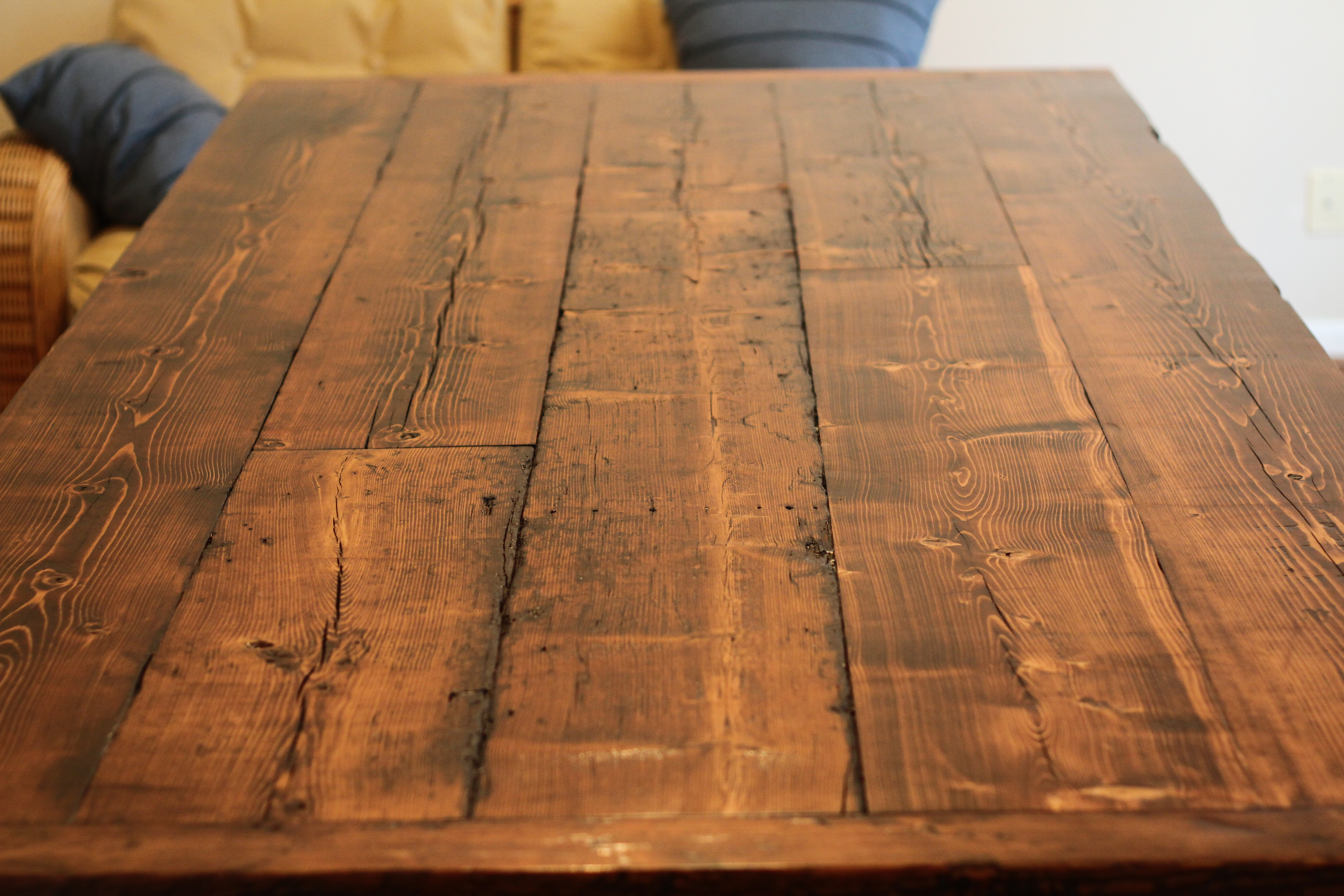 Old Wooden Table ~ Reclaimed farmhouse dining table llc