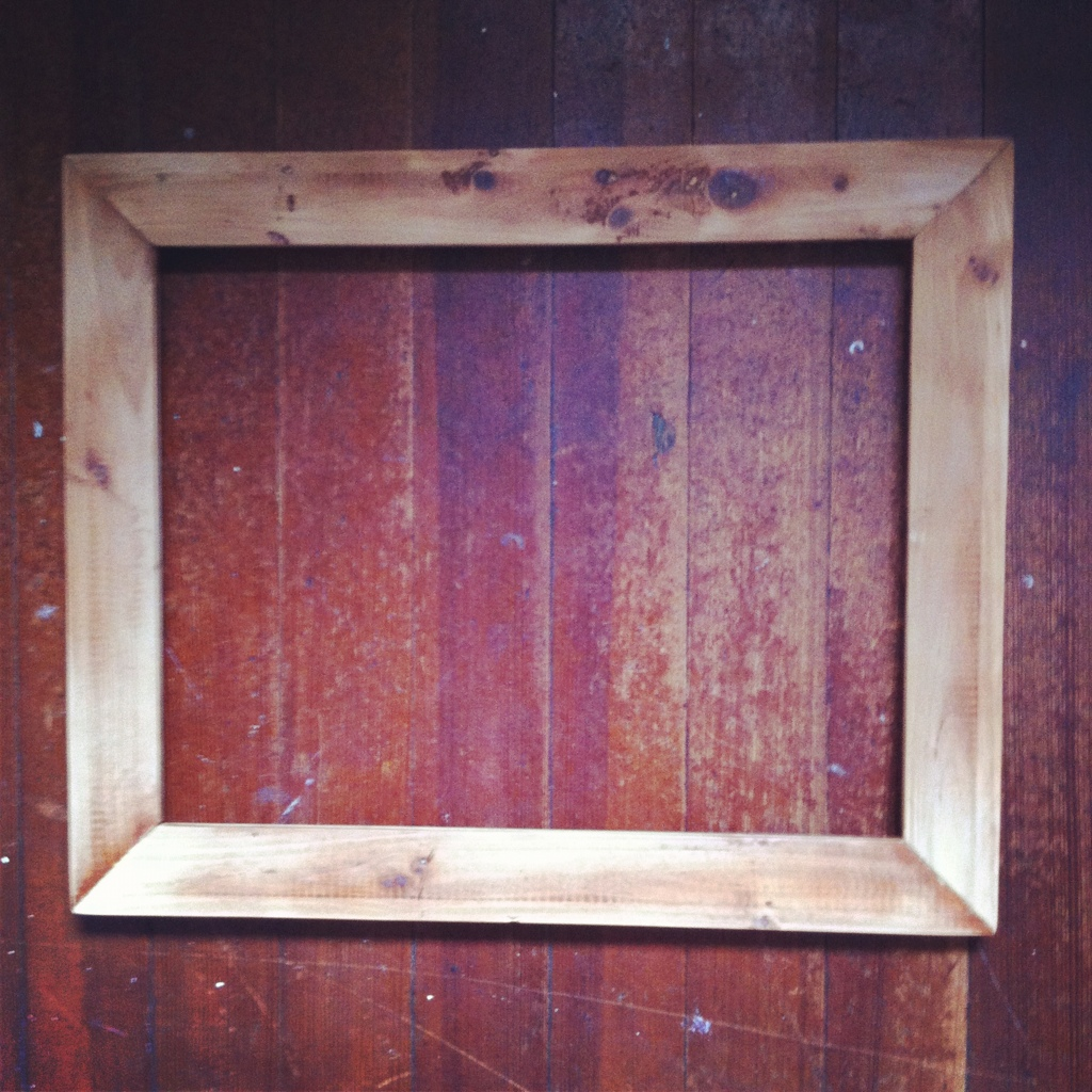 Working some new reclaimed wood frames. 20120625-142044.jpg - New Reclaimed Wood Frames €� Reclaimed LLC
