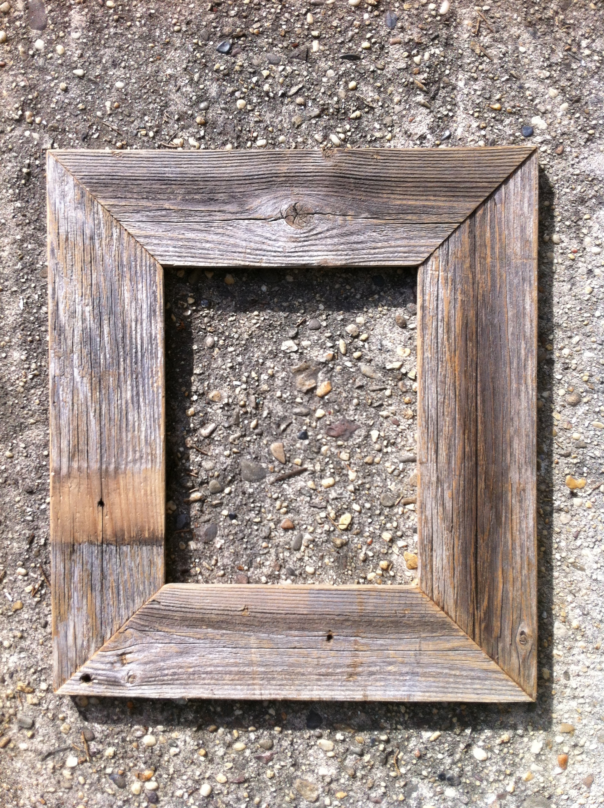 "One of two 8x10"" reclaimed cedar frames. © Ben Wurst"