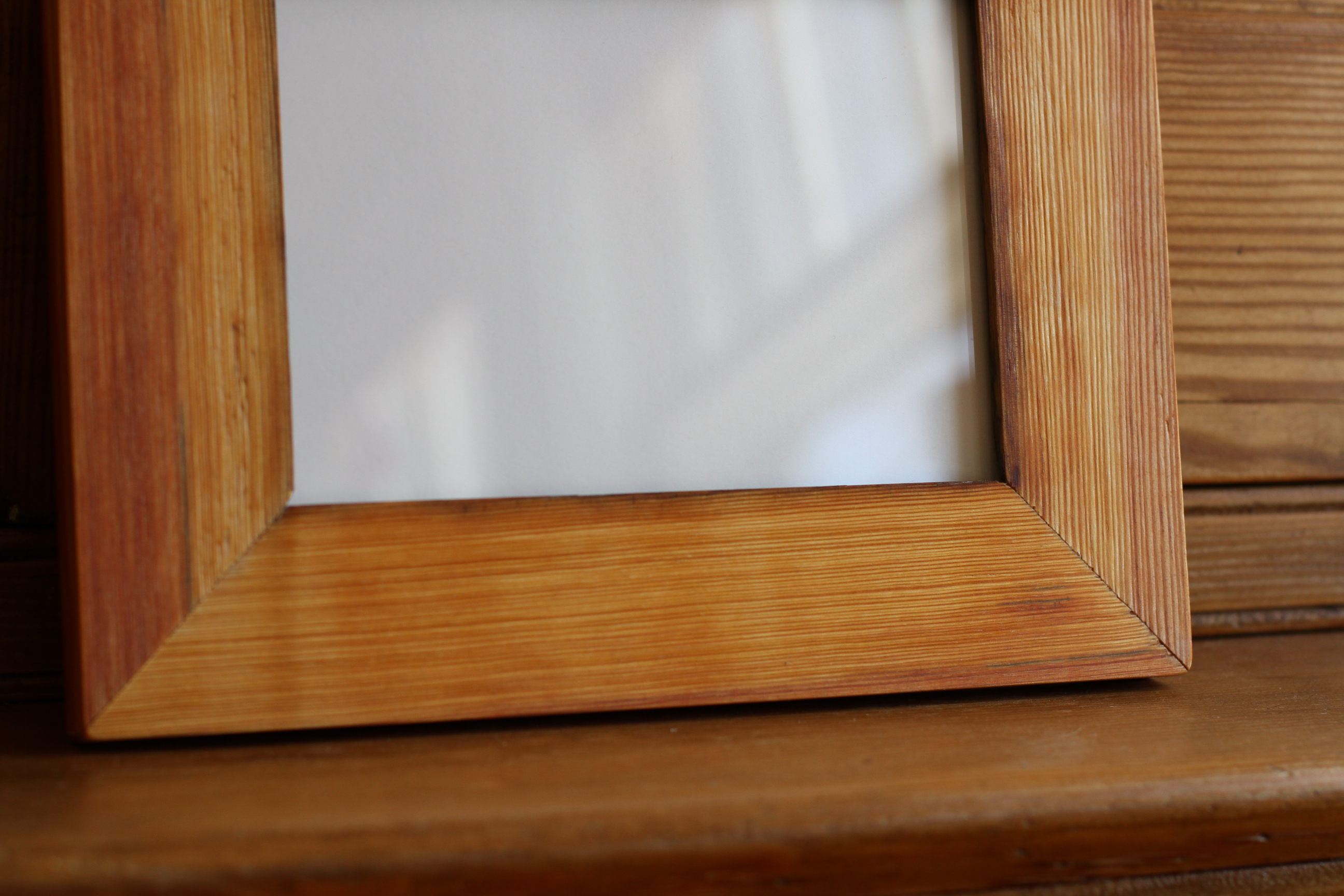 "5x7"" reclaimed yellow pine frame"