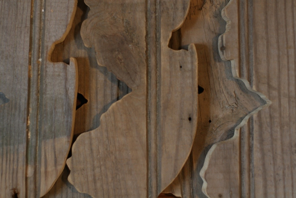"""Limited Edition reclaimed """"shack"""" wood jersey cutouts"""