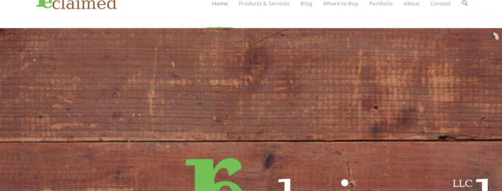 A screen shot of the new site.